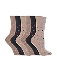 6 Pair Gentle Grip Core Socks