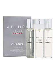 Chanel Allure Sport Male 3x20ml Refills