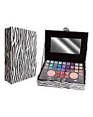 Zebra Jewel Make Up Case