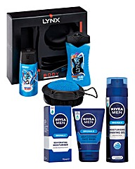 Lynx Manwash Set & Nivea Cool, Calm Set