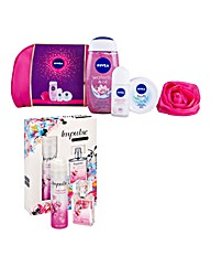 Impulse Fragrance Set & Nivea Gift Set