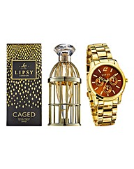 Lipsy Watch with Lipsy Caged 30ml EDT