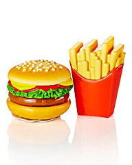 Burger & Fries Lip Balm Duo Set