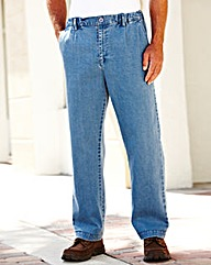 Premier Man Elasticated Jeans 27in