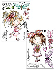 Tatty Twinkles A6 Stamp Set of 2 Floral