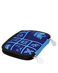 VW Collection Zipper Wallet Blue
