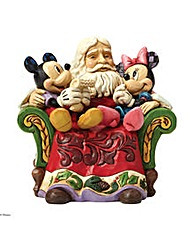 Disney Traditions Santa, Mickey & Minnie
