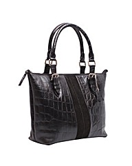 Blousey Brown Genuine Leather Shopper