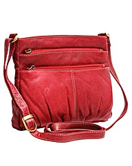 Blousey Brown Genuine Leather Crossbody