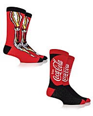 2 Pack Coca Cola True Socks