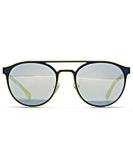 Lacoste Double Bridge Round Sunglasses