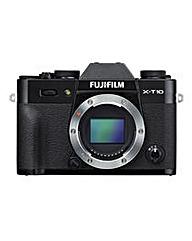 FujiFilm X-T10 Camera Black Body Only