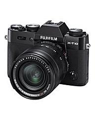 FujiFilm X-T10 Camera Black XF 18-55mm