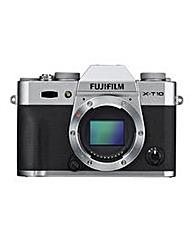 FujiFilm X-T10 Camera Silver Body Only
