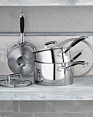 Bistro Stainless Steel 3pc Pan Set