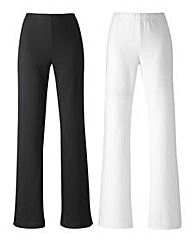 Petite Pack 2 Trousers Length 25in