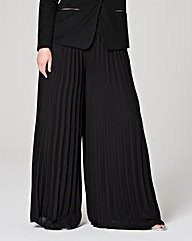 Sunray Pleat Palazzo Trousers Regular