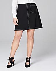 Ponte A Line Mini Skirt