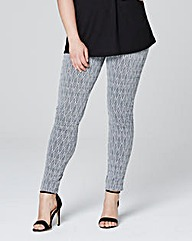 Jacquard Print Leggings