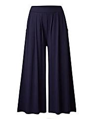 Wide-Leg Jersey Culottes