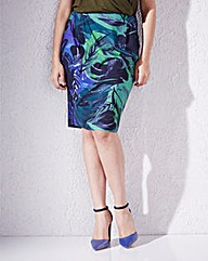 Print Jersey Pocket Skirt