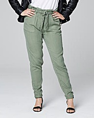 Lyocell Casual Cargo Trousers Short