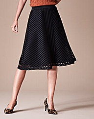 Mesh Stripe Skirt