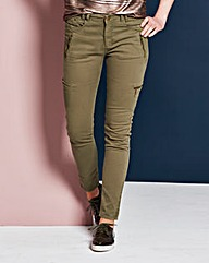 Feminine Combat Biker Trousers Regular