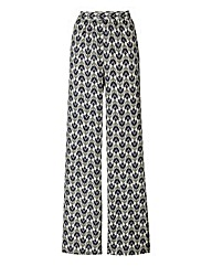 Wide Leg Print Trouser Regular