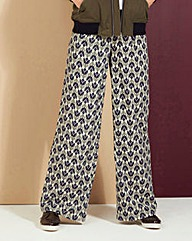 Wide Leg Print Trouser Regular
