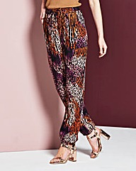 Woven Printed Harem Trousers Regular