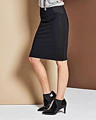 Sports Panel Pencil Skirt