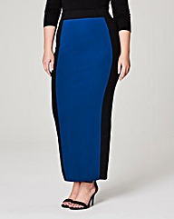 Colour Block Jersey Tube Maxi Skirt