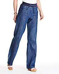 Cindy Slouch Cotton Jeans Length Long