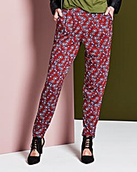 Floral Jersey Harem Trouser Regular