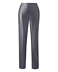 Stretch PU Zip Hem Trousers