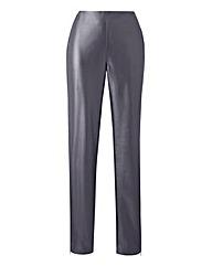 Stretch PU Zip Hem Trousers