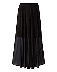 Side Split Detail Maxi Skirt
