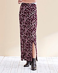 Print Double Side Split Maxi Skirt