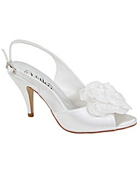 Perfect Peep Toe Sling Back with Corsage