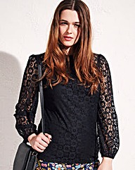 Simply Be Long Sleeve Lace Top