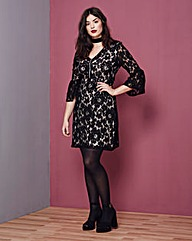Simply Be Zip Lace Aline Dress