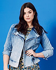 Simply Be Denim Biker Jacket