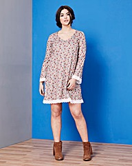 Simply Be Ditsy Print Lace Trim Swing