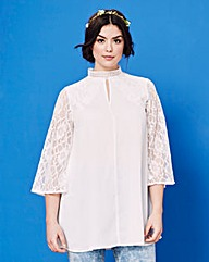 Simply Be Lace Insert Blouse