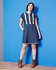 Simply Be Denim Pinafore Dress