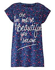 Paisley Print Logo Print T-shirt