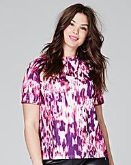 Pink Print Raglan Soft Touch Jersey Top