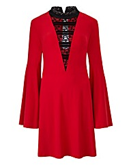 Red Tunic with Bell Sleeve