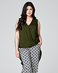Khaki Crossover Front Top